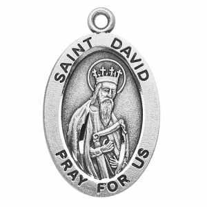 Silver St David Medal Oval