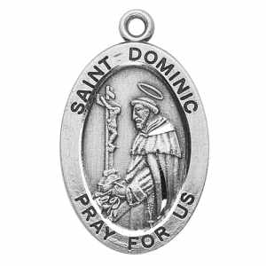 Silver St Dominic Medal Oval