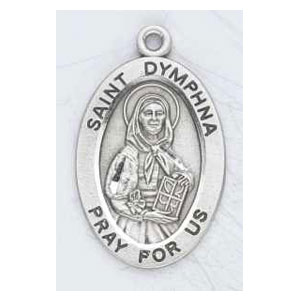 Silver St Dymphna Medal Oval