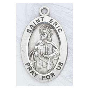 Silver St Eric Medal Oval