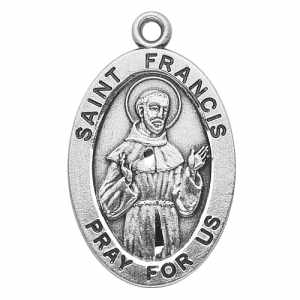 Silver st francis of assisi medal aloadofball Gallery