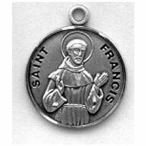 Silver st francis of assisi medal aloadofball Choice Image