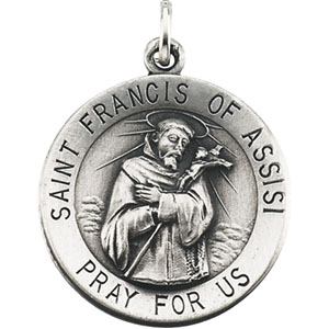 Silver St Francis of Assisi Medal