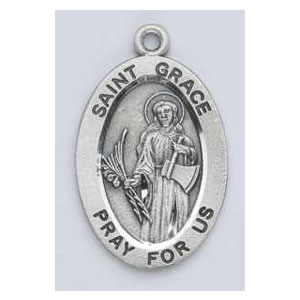 Silver St Grace Medal Oval