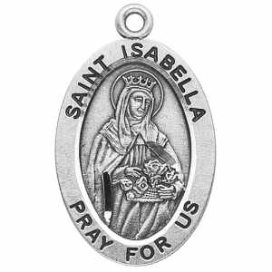 Silver St Isabella Medal Oval