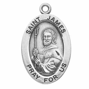 Silver St James the Greater Medal Oval