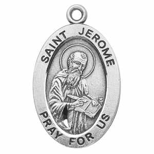 Silver St Jerome Medal Oval