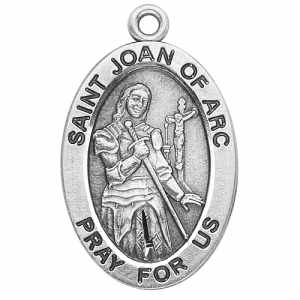 Silver St Joan of Arc Medal Oval