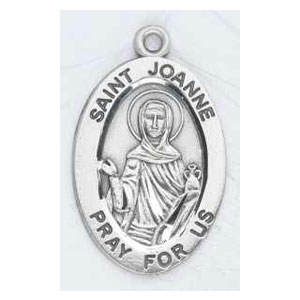 Silver St Joanne Medal Oval