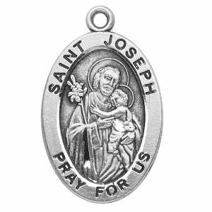 Silver St Joseph Medal Oval