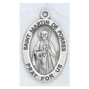 Silver St Martin de Porres Medal Oval