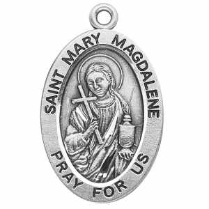 Silver St Mary Magdalene Medal Oval