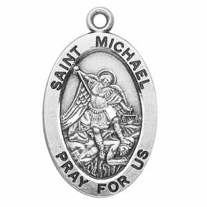 Silver St Michael Medal Oval
