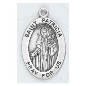 Silver St Patricia Medal Oval