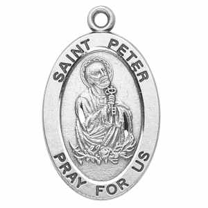 Silver St Peter the Apostle Medal