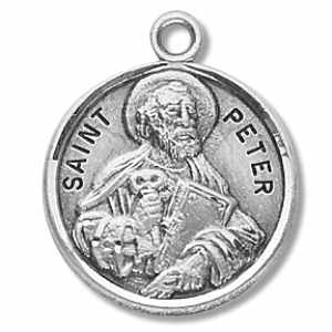 Silver St Peter the Apostle Medal Round