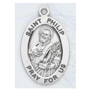 Silver St Phillip Medal Oval