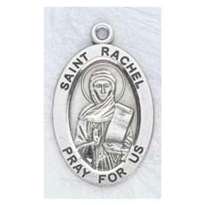 Silver St Rachel Medal Oval