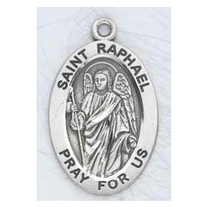 Silver St Raphael Medal Oval