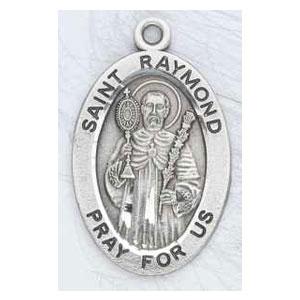 Silver St Raymond Medal Oval