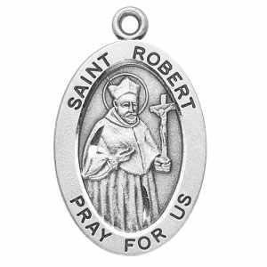 Silver St Robert Medal Oval
