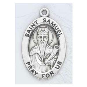 Silver St Samuel Medal Oval