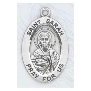 Silver St Sarah Medal Oval