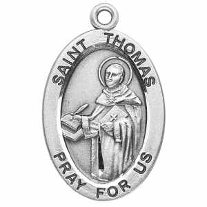 Silver St Thonas Aquinas Medal Oval