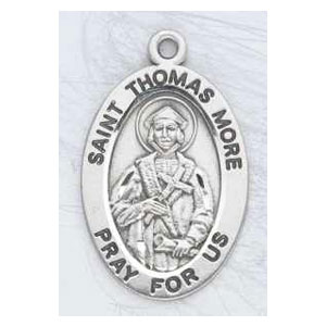 Silver St Thomas More Medal Oval