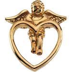 14K Angel on Heart lapel pin