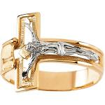 14K Gold Mens Crucifix Ring