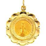 14K Gold Miraculous Medal 25x21 mm