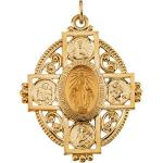 14K Gold Miraculous Medal 35x28 mm