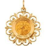 Gold Saint Gerard Medal Filagree
