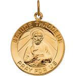 14K Gold St Jude Thaddeus Medal 18.0 mm