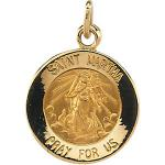 14K Gold St Martha Medal Round