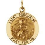 14K Gold St Peregrine Medal Round