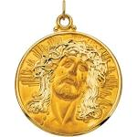 14K Face of Jesus Pendant