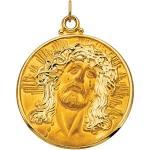 14K Face of Jesus Pendant