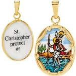 Porcelain St. Christopher Medal