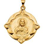 14K Sacred Heart of Jesus medal