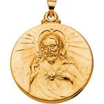 14K Sacred Heart of Jesus Medal Hollow