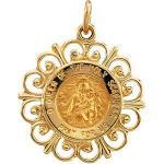 14K Gold Scapular Pendant
