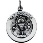 Silver First Holy Communion Medal