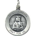 Silver St Barbara medal