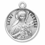 Silver St Therese of Lisieux Medal Round