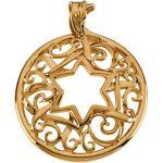 14K Gold Star of David Pendant 34x27.5 mm