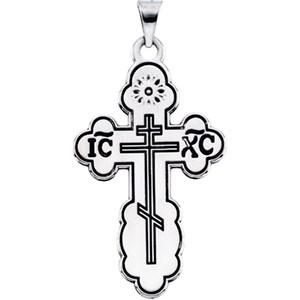 Sterling Silver St. Olga Cross