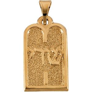 Gold Ten Commandments Pendant